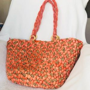 Handbags - Coldwater Creek Straw Tote.